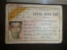 Id Card - Casual Laborer - Nguyen Cong Quy - Saigon - 1971 - Vietnam War, 2616