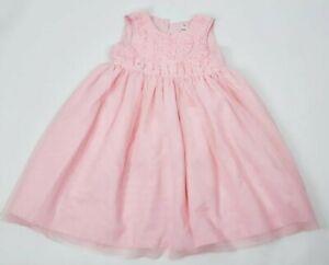CARTERS Little Girls Easter Pink Puffy  Girls Dress Pink Size 5