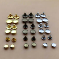 100pcs 6/8/10mm Round Double Cap Rivets Leather Craft Stud Repair Tool DIY Sets