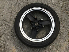 OEM 2.50x16 front wheel & tire from 84 / 85 HONDA VF500F Interceptor motorcycle