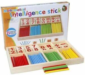 MATHEMATICAL INTELLIGENCE STICKS EDUCATIONAL MONTESSORI LEARNING KIDS TOY GIFT