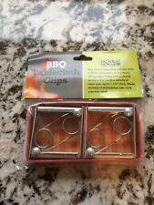 RSVP Set Of 4 Picnic Table Cloth Clips/Holders 18/8 Stainless Steel BBQ CLIP-4