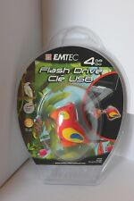 Emtec 4GB Flash Drive Jungle Bird Design New Sealed in Plastic