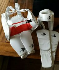 Taekwondo.Martial Arts.Sparring.Foam Helmet.Reversible Chest Guard.Pads. Small