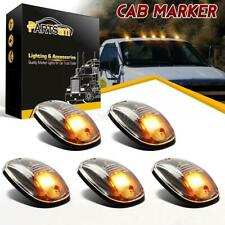 5x264146CL Amber LED Cab Roof Marker Running Lights Clear Lens For Truck SUV 4x4
