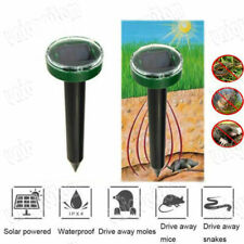 Solar Powered Ultrasonic Sonic Mouse Mole Pest Rodent Mosquito Repellent Yard EW