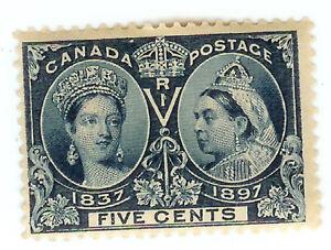 CANADA STAMP - 5 CENT BLUE  - VICTORIA JUBILEE - MH - Scott. 54