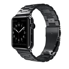 Stainless Steel Metal Chain Strap with Folding Clasp for Apple watch-38mm Black