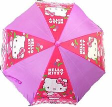 "New Sanrio Hello Kitty 21"" Kids Umbrella 3D Hello Kitty Cherry"