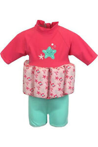 MOTHERCARE GIRLS PINK  SWIMSAFE FLOAT SUIT 1-3 YEARS RRP £31.99