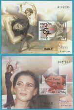 Spanien aus 2000 ** postfrisch Block 92+93 MiNr.3595-3596 - Carotes + Baras!