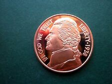 JEFFERSON NICKEL 1OZ COPPER ROUND