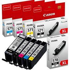 Cartucce Canon ORIGINALI per Pixma - Set 5 pezzi PGBK 570 XL e CLI-571 XL