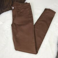 American Eagle Size 00 Coated Jeggings Brown Stretch