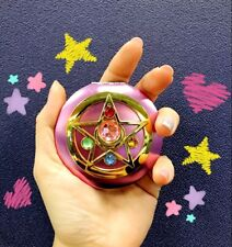 Japanese Anime Sailor Moon Cosplay Style Mini Pink Makeup Mirror Cosmetic Tools