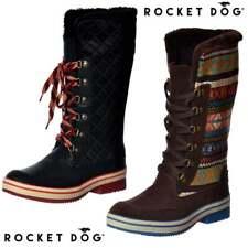 Ladies Girls Rocket Dog Suri Winter Snow Boot - Tribal Brown UK3- UK8