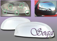 FOR 2007-2013 CHEVY SILVERADO CHROME SIDE MIRROR TOP HALF COVERS CLIP ON REPLACE