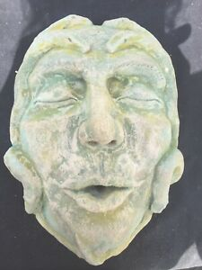 Madusa Water Head, Stone Water Face, Water Spout, Stone Water Feature