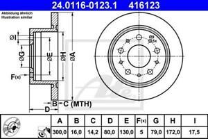 2 ATE Bremsscheiben für Citroen Jumper/ Fiat Ducato/ Peugeot Boxer (250_290_)