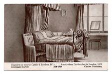 Canada Centenaire Georges E. Cartier 1814-1914 Chambre ou il mourut Londres 1873