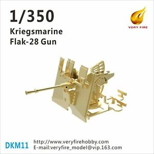 Very Fire 1/350 Kriegsmarine Flak-28 gun (8 sets) DKM11