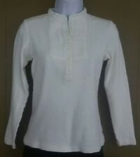 CAbi womens small white tuxedo bib shirt top blouse long sleeve