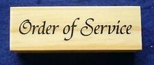 Order Of Service  Mounted Polymer Stamp