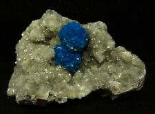 Cavansite and Calcite on heulandite matrix, Wagholi, Pune # 7462
