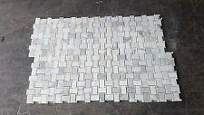 Calacatta Mosaic Basketweave Polished Marble Tile 10 Pcs Natural Stone