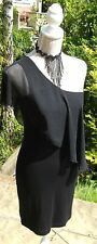 New Therapy black one shoulder dress UK 12  Party Clubbing