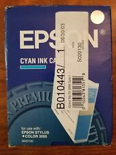 Genuine Epson Ink Cartridge Cyan S020130 Stylus Color 3000 Pro 5000