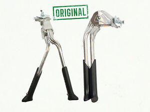 "Bicycle Bike Adjustable Double Leg Kickstand 24""26""28"" Heavy Duty Silver CL-KA56"