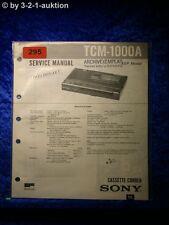 Sony Service Manual TCM 1000A Cassette Corder  (#0295)