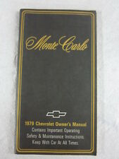 1979 MONTE CARLO GM FACTORY ORIGINAL SURVIVOR OWNERS MANUAL 1ST EDITION EX COND