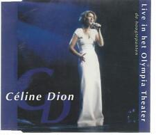 CD SAMPLER CELINE DION LIVE in OLYMPIA THEATER PROMO à Olympia en public