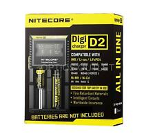 Nitecore D2 Digicharger Universal Charger 18650 RCR123A 17650 17670 14500 AA i2