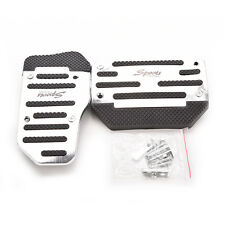 Universal Racing Sports Non-Slip Manual Car Pedals Pad Cover Silver GT