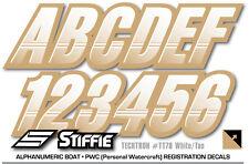 STIFFIE Techtron TT59 Boat PWC Letter Number Decal Registration ATOM GREEN NAVY