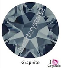 GRAPHITE Dark Gray 12 pcs 30ss 6.5mm Swarovski Crystal Flatback Rhinestones 2088