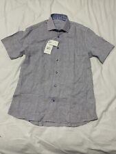 Bertigo Mens Shirt Linen Button Down Size Large NEW