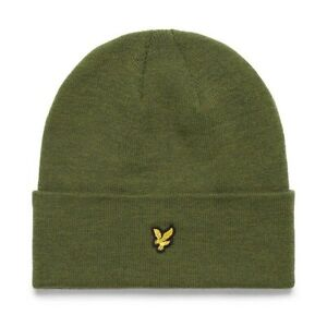 Lyle & Scott Mens Knitted Beanie Hat Olive One Size
