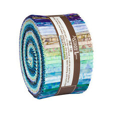 Kaufman Batik Rollup Jelly Roll, FANCY FEATHERS,  RU-857-40