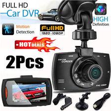 "2 x HD 1080P 2.2"" Car DVR Vehicle Camera Video Recorder Night Vision Dash Cam"