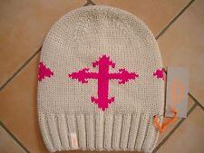 (M16) Grobstrick Mütze FREAKY HEADS Beanie Wintermütze mit Kreuz & Logo Aufnäher