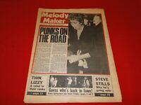 Vintage Rock N Roll Newspaper Pulp Magazine Melody Maker Sex Pistols 1976    P14