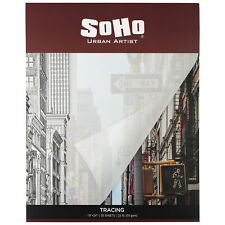 """SoHo 50 GSM Tracing Paper Pad 19x24"""" 50-Sheets - 10 Pack"""