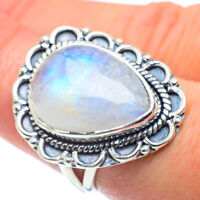 Large Rainbow Moonstone 925 Sterling Silver Ring Size 7.5 Ana Co Jewelry R57727F