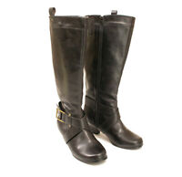Comfortview Calf High Black Faux Leather Boots US 10M