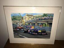 Greg McNeill Signed Print - Monaco Grand Prix 2011 - Sebastian Vettel Red Bull