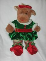 Build a Bear Holly the Moose Plush Stuffed Toy with Christmas Elf Outfit